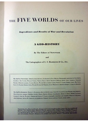 The Five Worlds of Our Lives