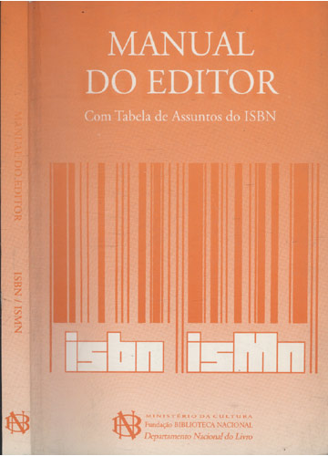 Manual do Editor - ISBN / ISMN