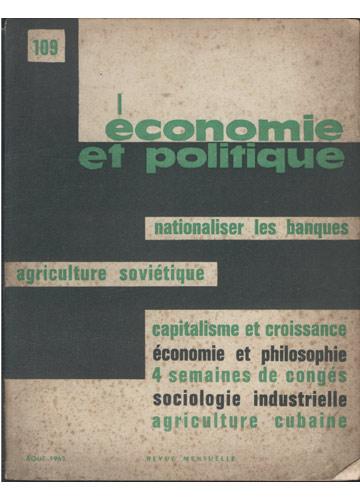Économie et Politique - aout 1963 - Nº.109