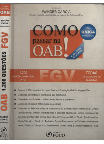 Como Passar na OAB! - 1.200 Questões Comentadas FGV