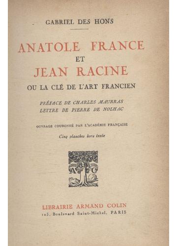 Anatole France & Jean Racine
