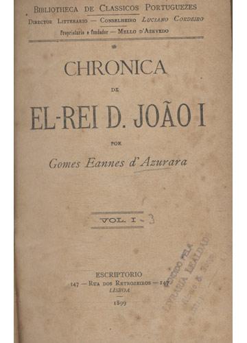 Chronica d'El-Rei D. João I - 3 Volumes Encadernados em 1 Tomo
