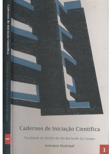 Cadernos de Iniciação Científica - Faculdade de Direito de São Bernardo do Campo - 1