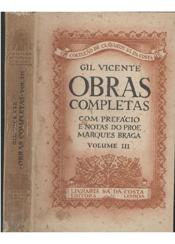 Gil Vicente - Obras Completas - Volume III
