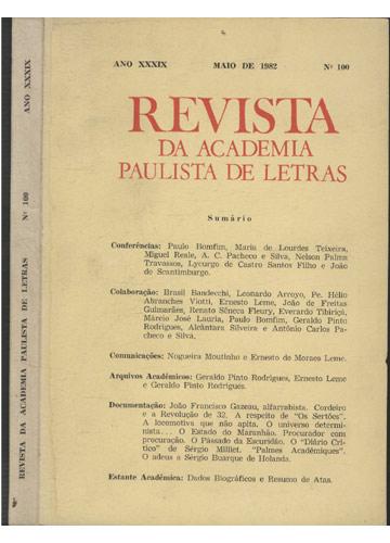 Revista da Academia Paulista - Ano XXXIX - Maio de 1982 - Nº.100