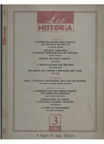 Ler História - Nº.3 - Ano 1984