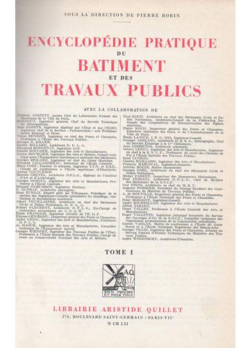 Encyclopédie Pratique du Bâtiment et Des Travaux Publics - 3 Volumes - com Plantas