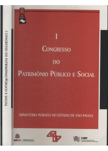 I - Congresso do Patrimônio Público e Social