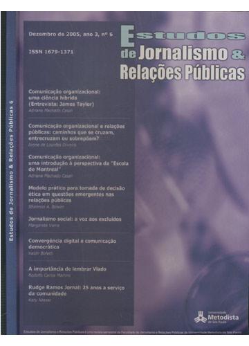 Estudos de Jornalismo & Relações Públicas - Número 6