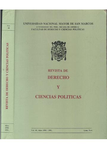 Revista de Derecho y Ciencias Politicas - Volume 48 - Años 1990 / 1991