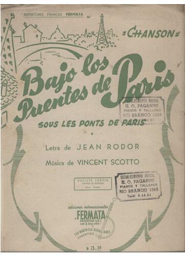 Bajo Los Puentes de Paris (Partituras)
