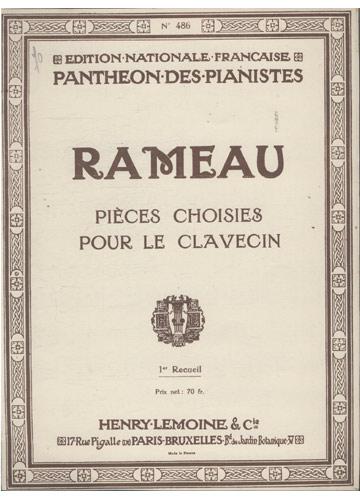 Rameau - Pièces Choisies Pour le Clavecin (Partituras Cravo)