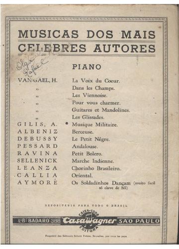 Musicas dos Mais Celebres Autores - Musique-Militaire (Partituras Piano)