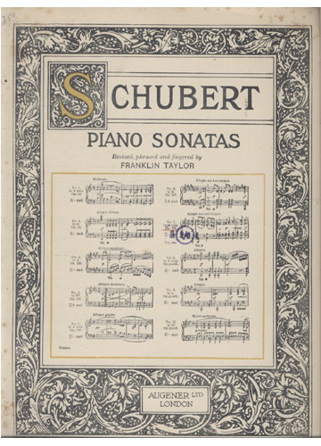 Schubert - Piano Sonatas - N.º 7 (Partituras)