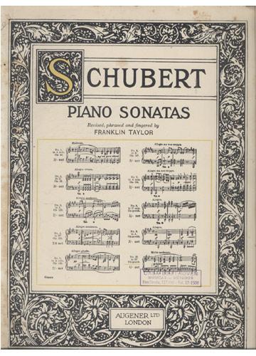 Schubert - Piano Sonatas - N.º 10 (Partituras)