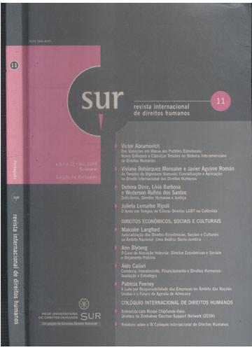 Sur - Revista Internacional de Direitos Humanos - Volume 6 - Nº.11 - Dez 2009