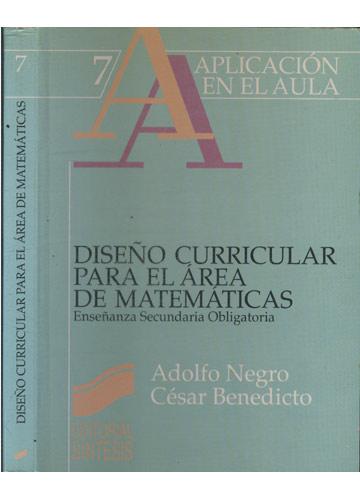 Diseño Curricular Para el Área de Matemáticas