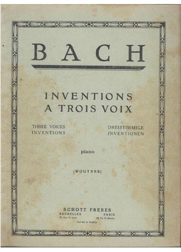 Bach - Inventions a Trois Voix (Partituras)