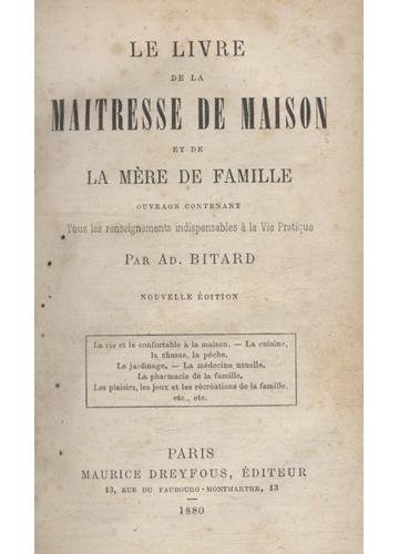 Le Livre de la Maitresse de Maison