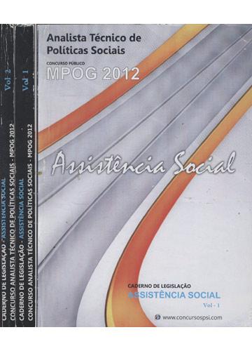 Caderno de Legislação - Assistência Social - Concurso Analista Técnico de Políticas Sociais - MPOG - 2 Volumes