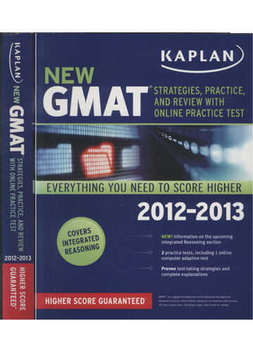 New Gmat - Strategies Practice and Review With Online Practice Test - 2012- 2013