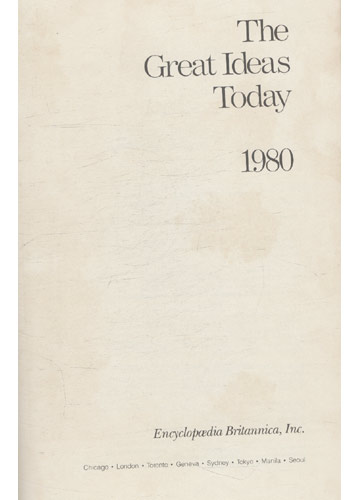 The Great Ideas Today - 1980