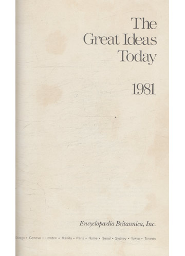 The Great Ideas Today - 1981