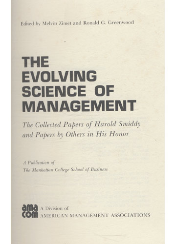 The Evolving Science Management