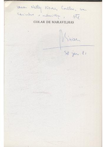 Colar de Maravilhas - Com dedicatória da autora