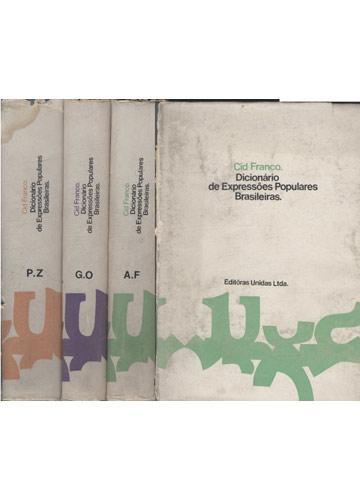 Dicionário de Expressões Populares Brasileiras - 3 Volumes