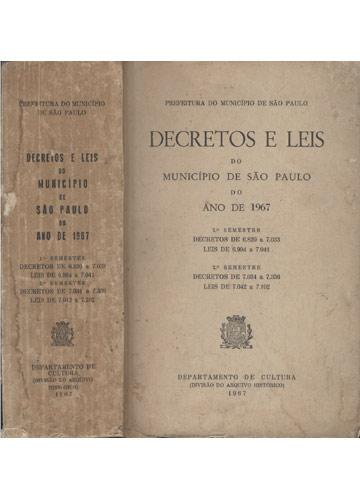 Decretos e Leis do Município de São Paulo do Ano de 1967