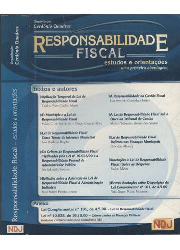 Responsabilidade Fiscal - Estudos e Orientações