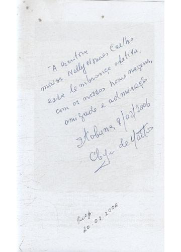 Vinte Poemas do Rio - Com Dedicatória do Autor