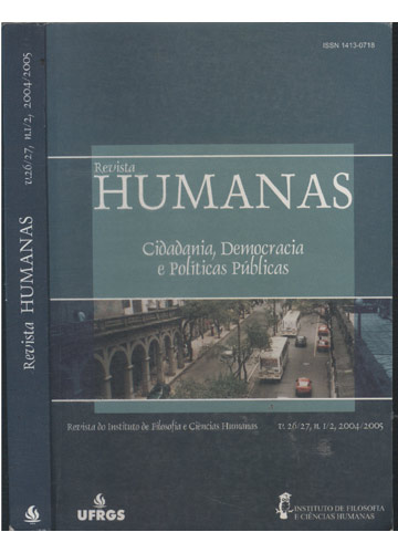Revista Humanas - V.26/27 - Nº.1/2 - 2004/2005