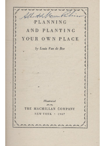 Planning and Planting Your Own Place