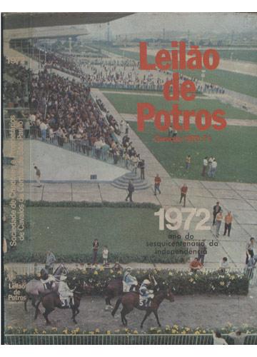 Leilão de Potros 1972 - Sociedade de Criadores e Proprietários de Cavalos de Corrida de São Paulo