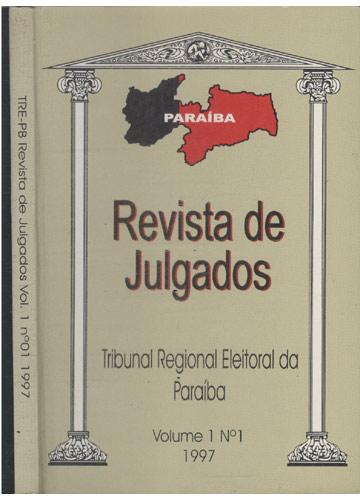 TRE-PB - Revista de Julgados- Volume 1 - Nº.1 - 1997