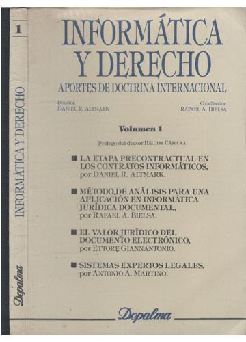 Informática y Derecho - Volumen 1