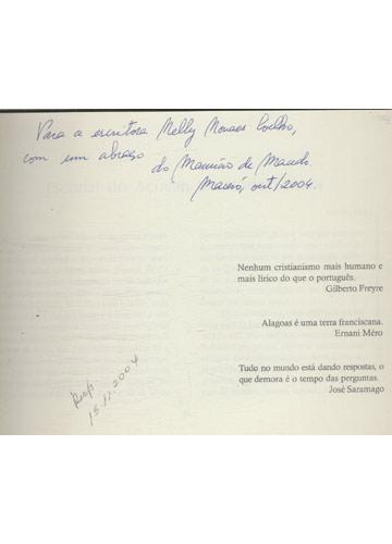 Escorial do Açucar - Com Dedicatória do Autor