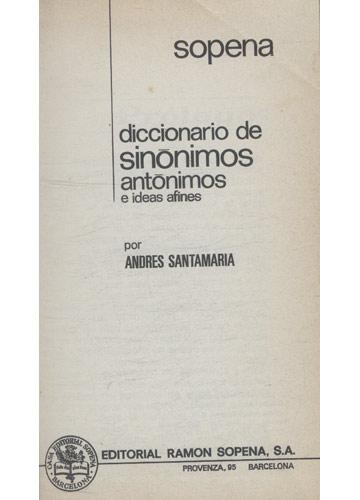 Sopena - Dicionário de Sinônimos Antônimos e Ideias Afines