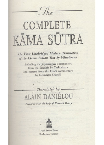 The Complete Kãma Sutra