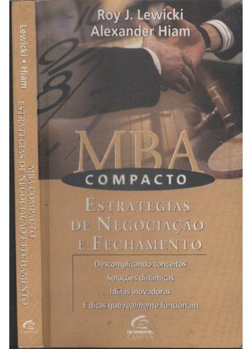 MBA Compacto - Estratégias de Negociação e Fechamento