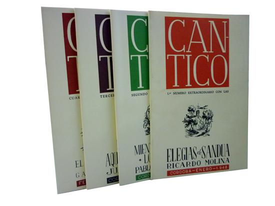 Cantico - Hojas de Poesia - Cordoba 1947-1957 + 4 Cadernos