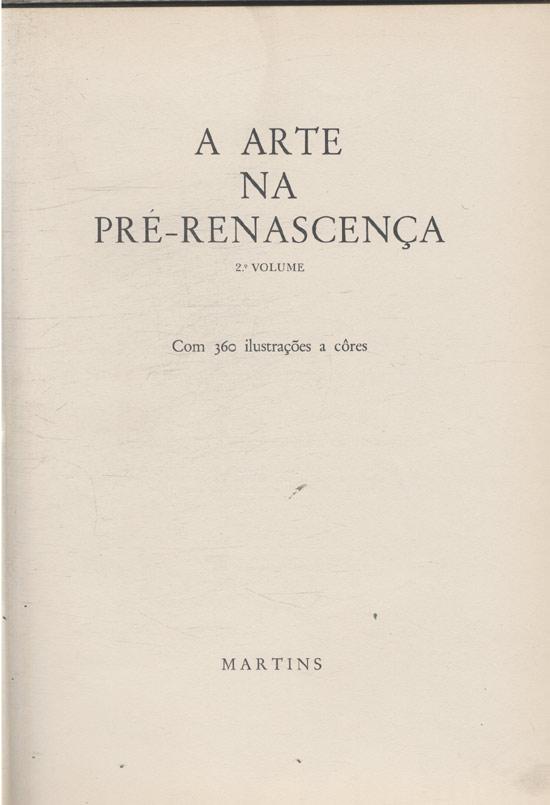 Arte na Pré-Renascença - Volume 2