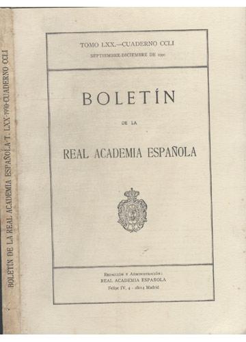Boletín de la Real Academia Española - T.LXX - 1990 - Cuaderno CCLI