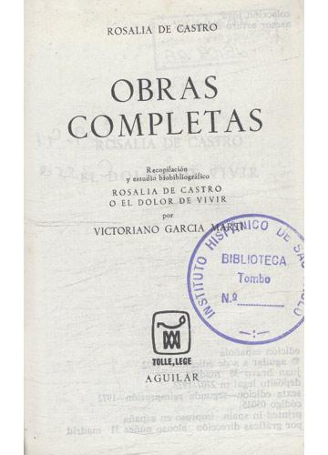 Rosalia de Castro - Obras Completas