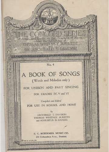 A Book Of Songs