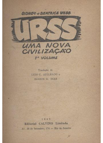 URSS - Uma Nova Civilização - Volume 1