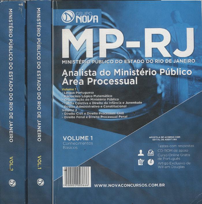 MP-RJ - Ministério Público do Estado do Rio de Janeiro - 2 Volumes - Sem CD