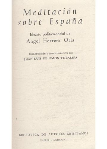 Meditación Sobre España